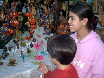 Market stall at the mataderos fair